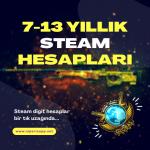7-13 Yıllık Steam Digit Hesaplar